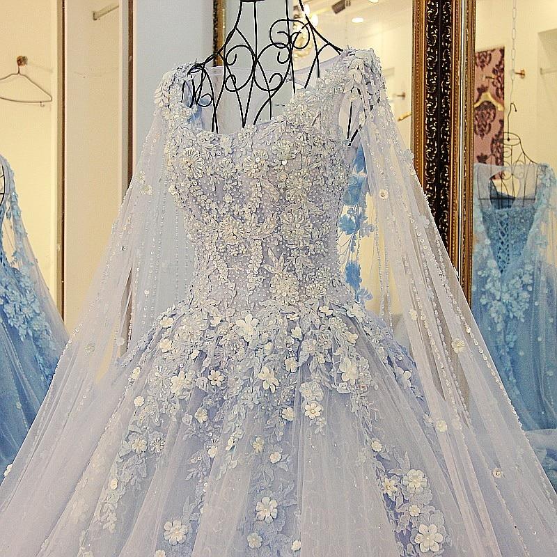 LS23990 nouvelle arrivée robe de soirée femme 2018 bleu robe de bal - Habillez-vous pour des occasions spéciales - Photo 4