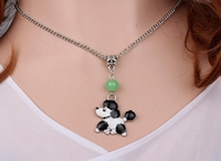 Enamel Animals Dogs Necklace Pendant Charms Choker Collar Statement Chain Necklaces Vintage Silver For Women Jewelry  Hot A435