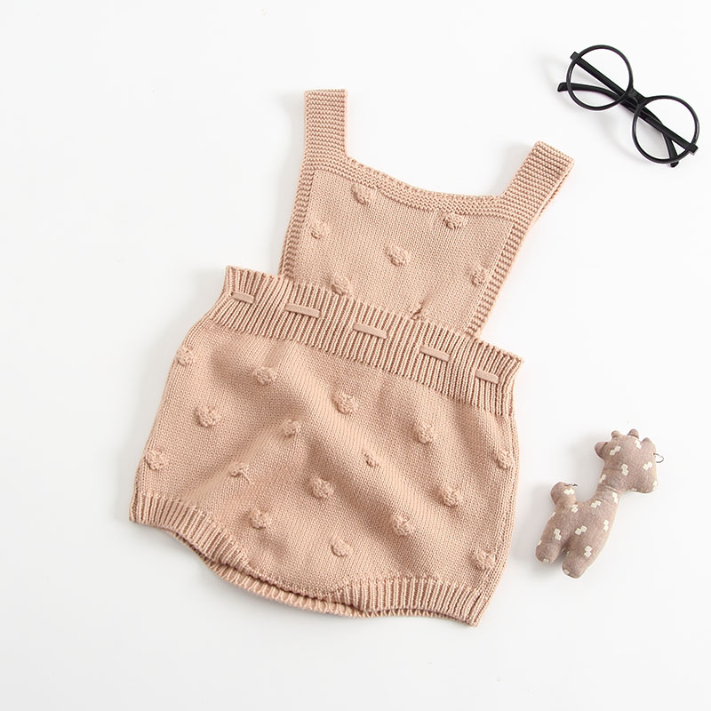 INS Summer Knitted Rompers Newborn In Baby Girls\' Rompers&Jumpsuit Vest Top Tee Kids Boys Gray Rompers 0-3 Years Girl Clothing (4)