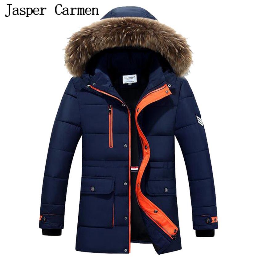 ФОТО Free shipping Men's Jacket Parka Winter Long Sleeve Thicken Hooded Warm Men Coat fur Hood Mens Clothes  95yw