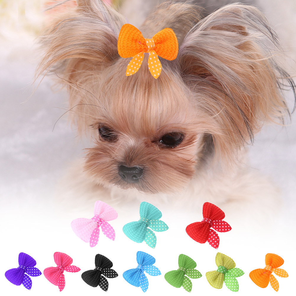 10pcs Pet Hair Clips Cute Pet Dog Cat Grooming Beauty Supplies Dog Bow Hairpins Pet Puppy Grooming Beauty Accessories