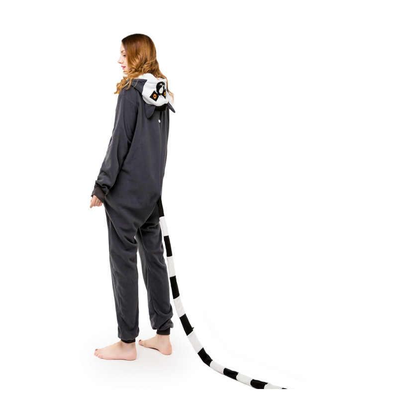 Обезьяна Кигуруми костюмы-комбинезоны 2019 для мужчин и wo с капюшоном животных мультфильм пижамы синий Акула дома любителей длинным рукаво