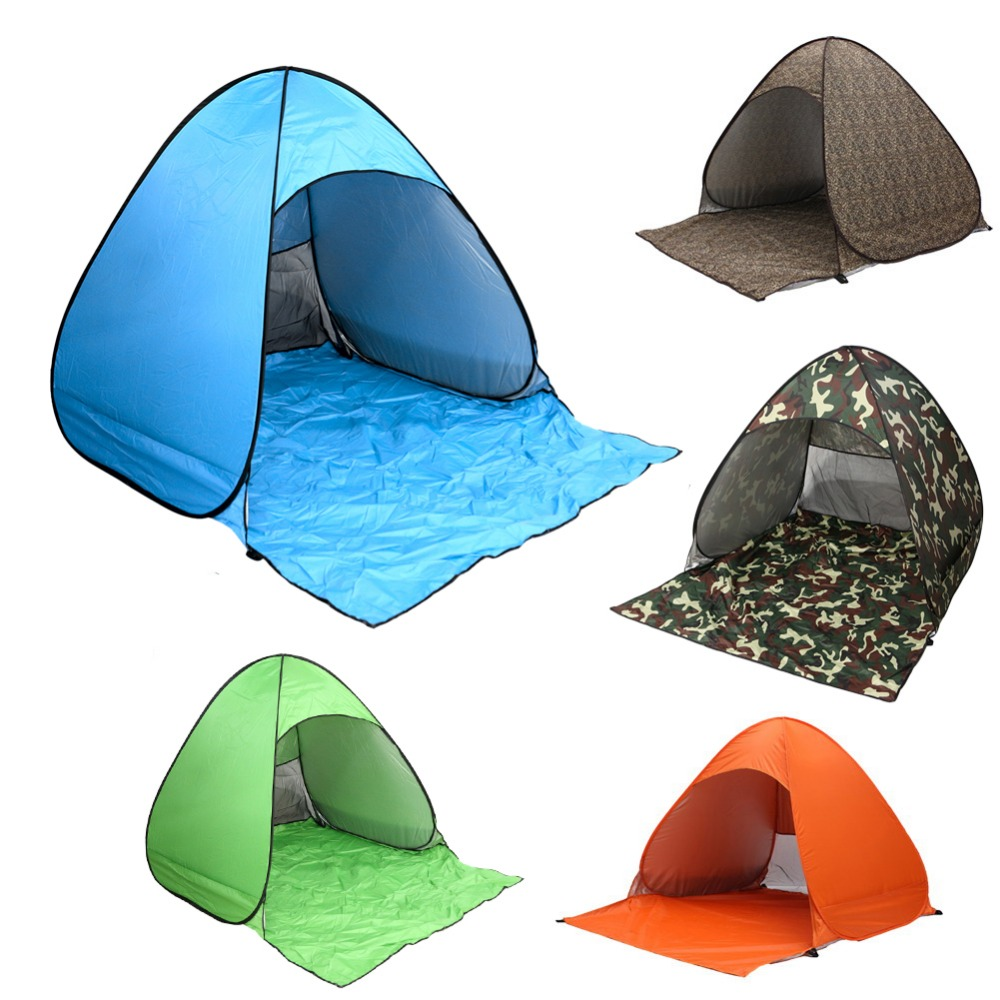 23 persons protable fishing tent sun shade quick automatic opening summertent uv protection summer - Quick Shade