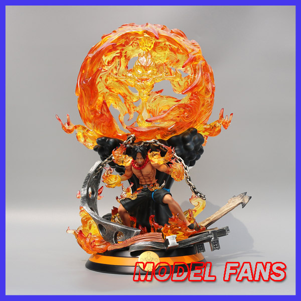 MODEL FANS INSTOCK 58cm ONE PIECE ace fight ver gk resin statue contain  Figure for Collection genuine megahouse p o p portrait of pirates excellent model limited one piece nefeltari vivi ver bb collection figure