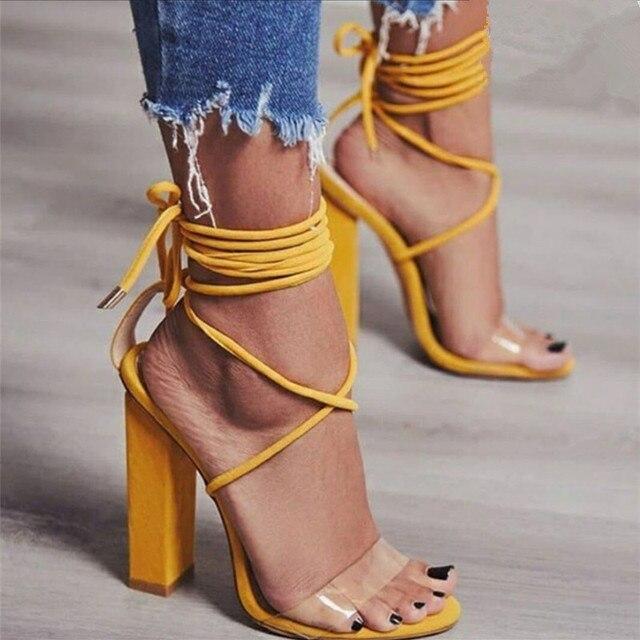 e9324d737b4 Women Pumps 2018 Summer High Heels Sandals PVC Transparent Women Heels  Wedding Shoes Women Casual Waterproof Sandalia Feminina-in High Heels from  ...
