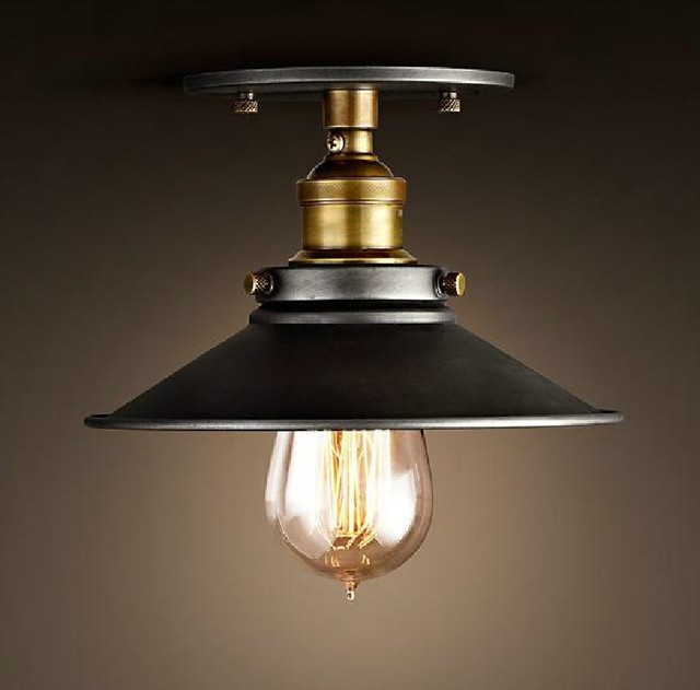 Vintage Ceiling Lamps American Style Copper Lamps Ceiling Light Personality Simple Country Balcony Lamp Home Lighting Corridor
