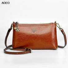 AOEO Crossbody Bags For Women 2019 Oil Wax Split Leather Girl Vintage Luxury Small Handbags Ladies Shoulder Messenger Bags Retro цена