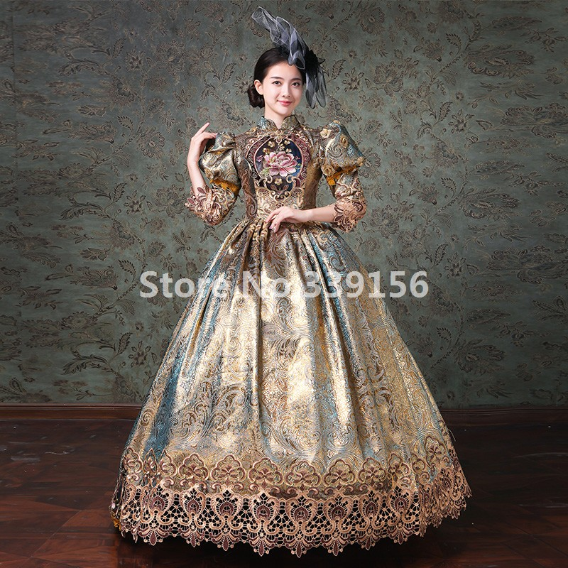 46983c0a38a1e 18th Century Women Gown Holiday Gothic Gown Marie Antoinette Masquerade  Dress Stage Theater Costumes