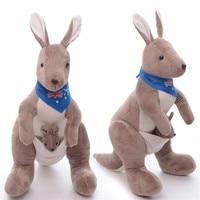 Güzel Peluş Kanguru Oyuncaklar Avustralya Eşarp Vahşi Hayvan Bebek Modeli Ev Hayvan Dekorları Çocuk Bandicoot Öğrenme Oyuncaklar 28 cm
