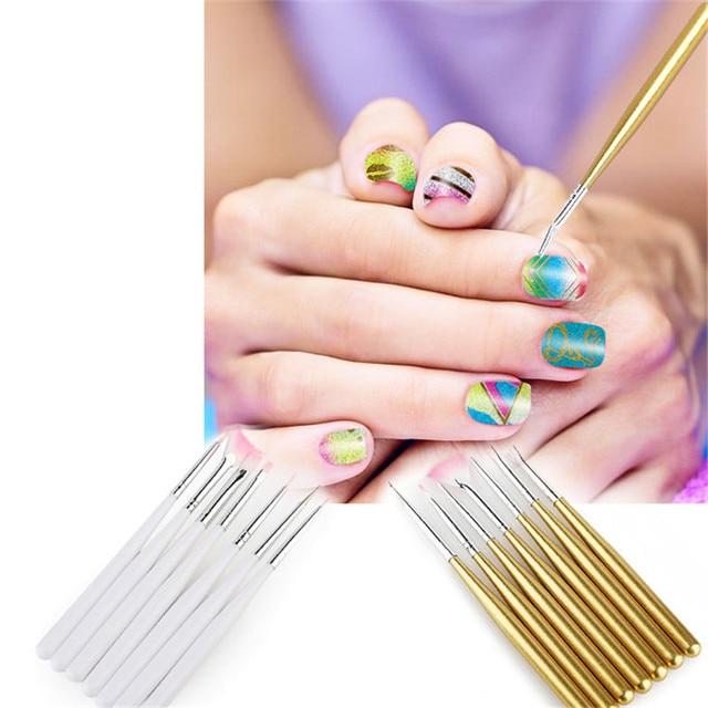 7Pcs/set Painting Flower Brush Nail Art Tools Gel Nail Patterns ...