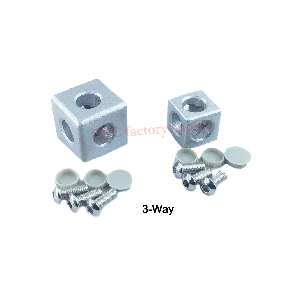 Hot sale 30/40 aluminum profile fittings 3-way corner connector 2-way right angle connection block three dimensional connector block 24 page 3