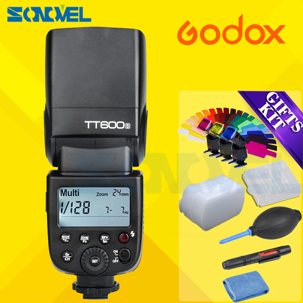 Godox TT600S GN60 2.4G Camera Flash Speedlite for Sony A7II/A7/A7r/A7s/A7RII/A7SII/RX10 III/A6000/A6100/A6300/A6500/A99 it8712f a hxs