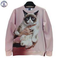 Mr 1991INC Animals Printed Fashion 3d Sweatshirt For Men Women Funny Cat Panda Fox Printed 3d
