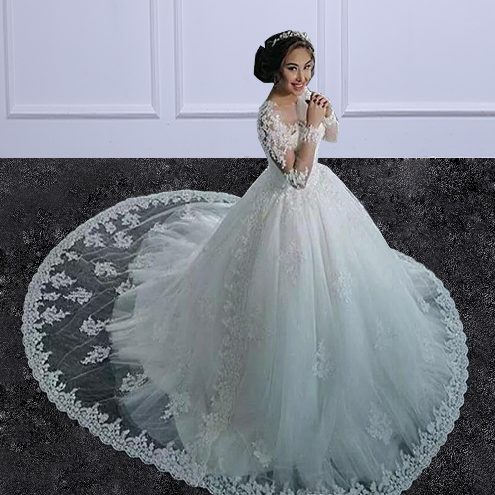 yiwumensa Two Pieces Lace A LINE Wedding Dresses with Detachable ...