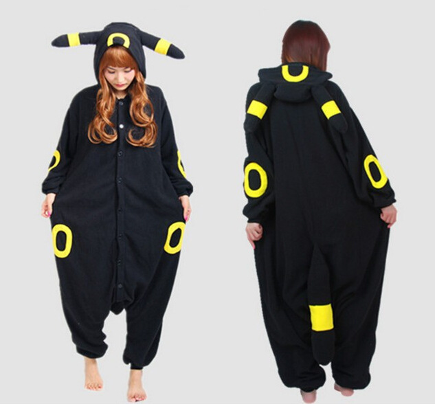 Wizard Umbreon Cartoon Adult Unisex Animal Cosplay Pajamas Sets Sleepwear Onesies Pajama For Women Men Couples Girls