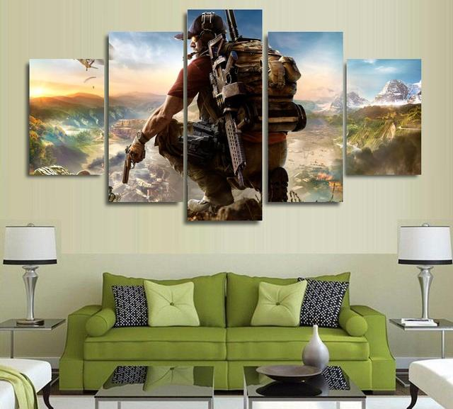 Unframed Ghost Recon Future Soldier Poster Video Game Tom Clancy Canvas Print Room Decoration 5