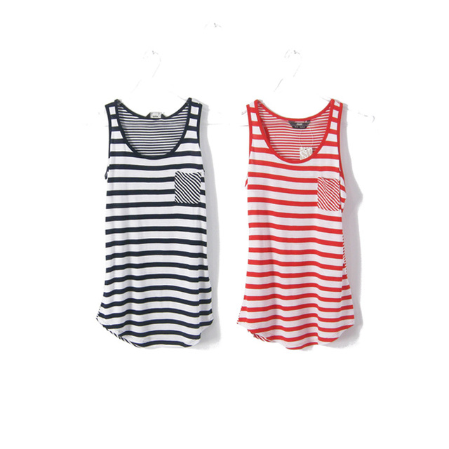 Fashion stripe modal tank female plus size spaghetti strap vest mm summer basic small vest