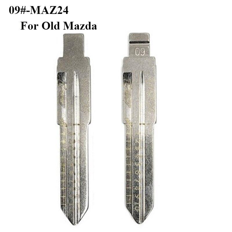 Maz24 lishi 자동차 키 블레이드, 09 # lishi 키 커터 새겨진 라인 키 스케일 전단 치아 공백, 자동차 키 블레이드