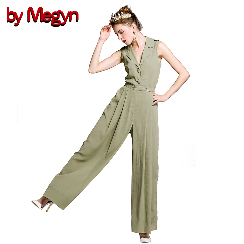 2017 Spring Fashion Women Jumpsuits Rompers Casual Elegant Rompers Sleeveless V-Neck Female Jumpsuit Plus Size Overalls LD469