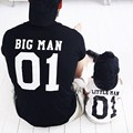 Hot Family Matching Outfits Fashion letter print Big Man Little Man father Son big man & little man baby kids 3 color T-shirt