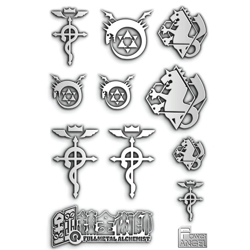 Anime Fullmetal Alchemist 3D Metal Stickers For Phone Laptop Car Fridge Decal Sticker Luxury Toy Sticker