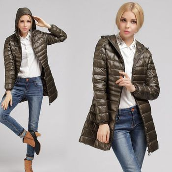 NewBang 7XL 8XL Plus Long Down Jacket Women Winter Ultra Light Down Jacket Women With