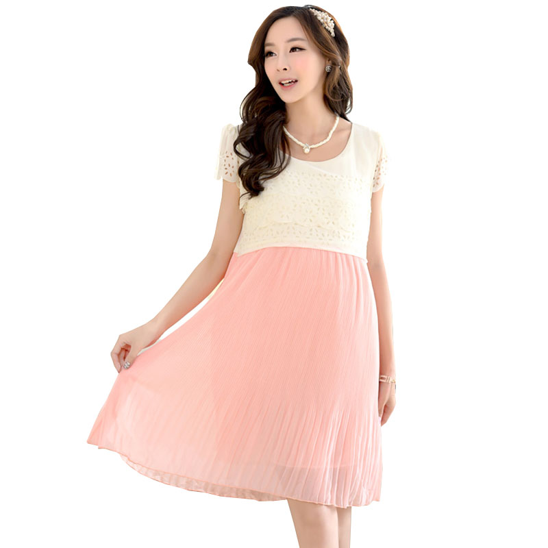 Maternity Nursing Dress For Pregnant Women Clothing Fashion Chiffon Breastfeeding -7361