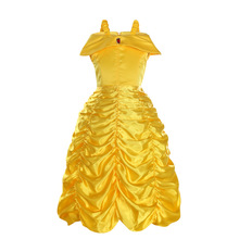 2018 Cosplay Belle Princess Dress Girls Dresses For Beauty and the beast Kids Party Clothing Costume цена