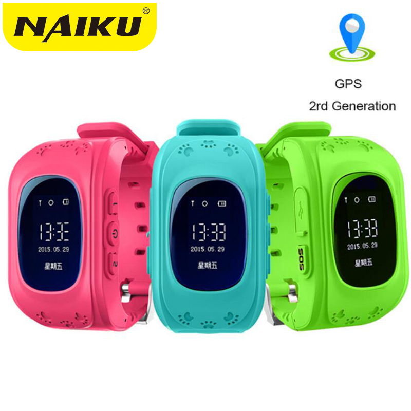 NAIKU Anti Lost Q50 OLED Child GPS Tracker SOS Smart Monitoring Positioning Phone Kids GPS Baby Watch Compatible IOS & Android