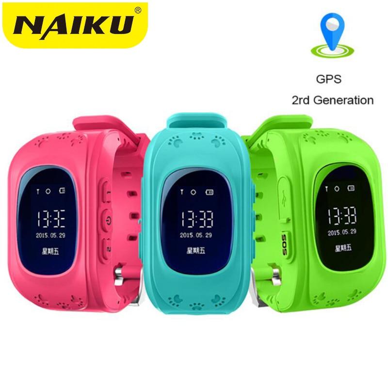 NAIKU Anti perdido Q50 OLED niño GPS Tracker SOS supervisión inteligente posicionamiento del teléfono niños GPS bebé reloj Compatible IOS y android