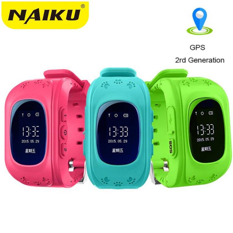 NAIKU Anti perdido Q50 OLED niño localizador GPS SOS inteligente de control de posicionamiento teléfono niños GPS reloj de bebé Compatible con IOS y Android