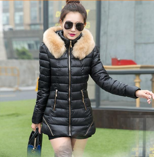 a870151ce4812 Women Cotton Coat Long Thick Slim High Quality Down Jacket 2015 New Design  casacas de pluma mujer 2015