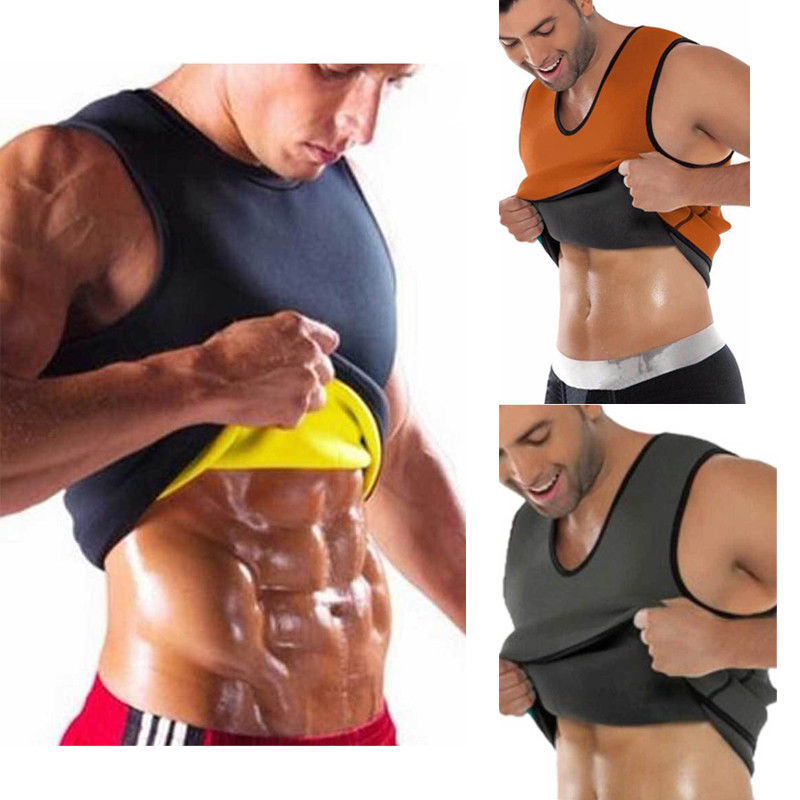 Dropshipping Men Body Slimming Tummy Shaper Belly Underwear Shapewear Waist Girdle Tee 2019 Shape Body Vest Shapers S-XXXXL