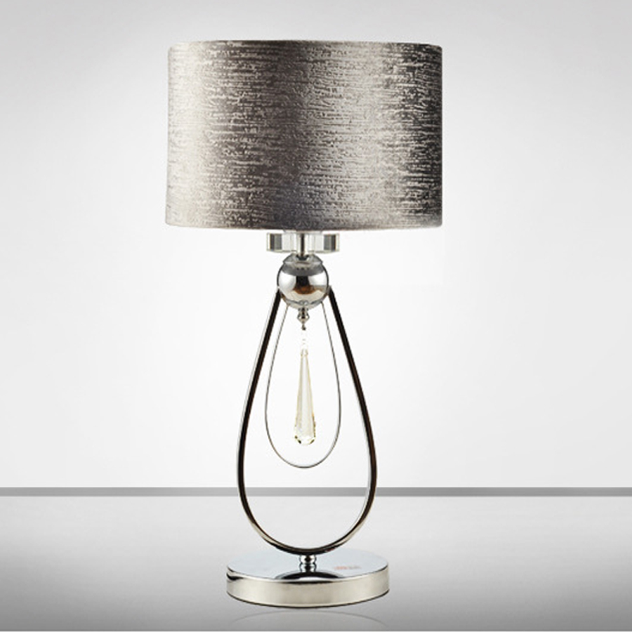 Hot sale Modern simple high quality iron cloth table lamp Creative ...