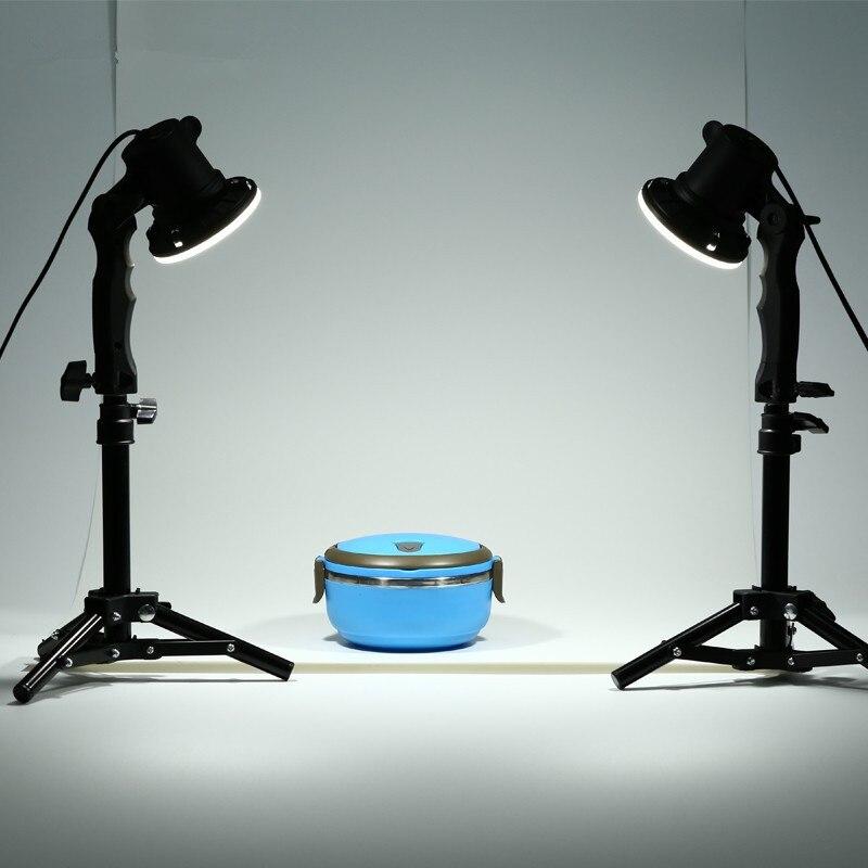 TRUMAGINE 2 pièces Photo Studio Flash lampe à LED photographie studio ampoule Portrait boîte souple remplissage lumières ampoule + 2*37 CM support de lumière