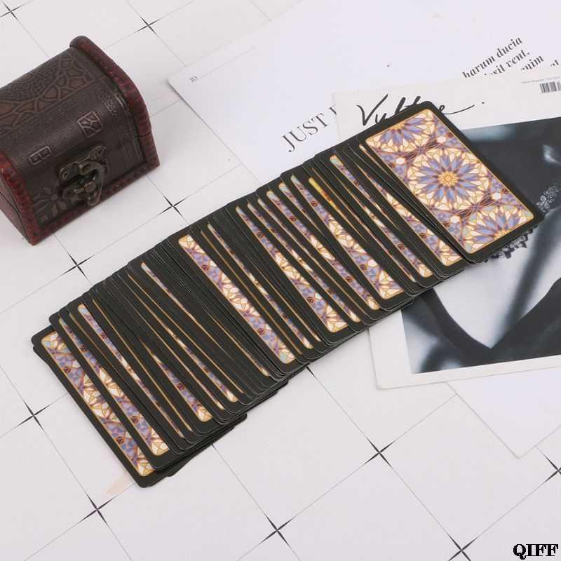 Cavalier Tarot cartes avec boîte colorée mystérieuse Divination astrologie jeu de société MAR28