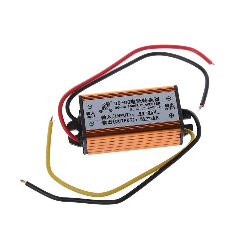 DC-DC 12V 24V Naar 5V 5A Converter Voltage Regulator Step Down Power Supply Module MAR22 Dropship Dropship