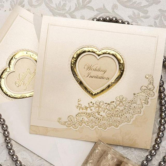 aliexpress  buy golden high end wedding invitation cards, Wedding invitations