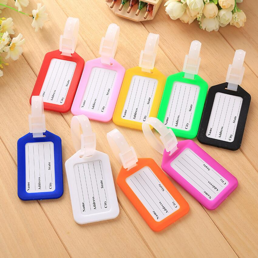 Plastic Pp Travel Luggage Tag Suitcase Boarding Pass Board Viagem Checked Card  Mixproof Boarding Tag Address Label Name ID Tags