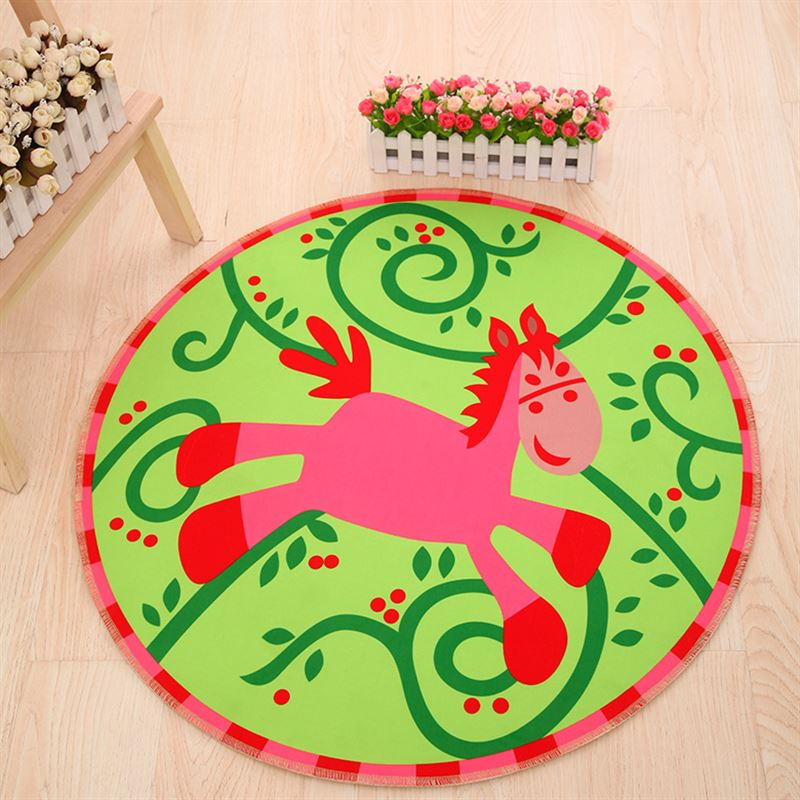 Cartoon 3D Print Round large Area Carpet baby Bedroom Game Carpets for living room Crawl tapete Kids Room Computer Chair Mats