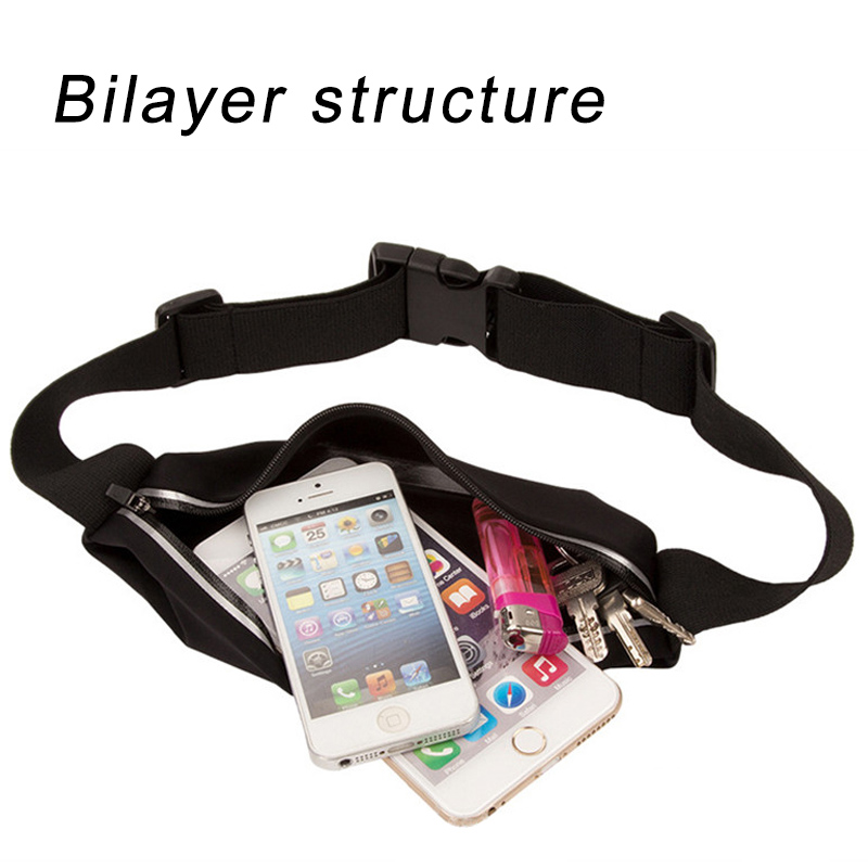 New Waterproof Pocket Sport Running Bag Belt Waist Case Pouch Mobile Phone Cover For LG g5 k10 v10 leon nexus 5x Sports Gym Bags