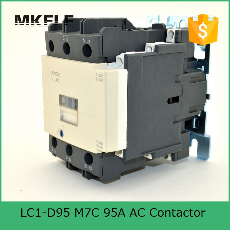 magnetic contactor LC1-D9511 Q7C 3P+NO+NC contactor telemecanique types of ac magnetic contactor 95A 380V coil voltage tesys d contactor 3p 3no 95a lc1d95 lc1d95nd lc1 d95nd 60v dc coil