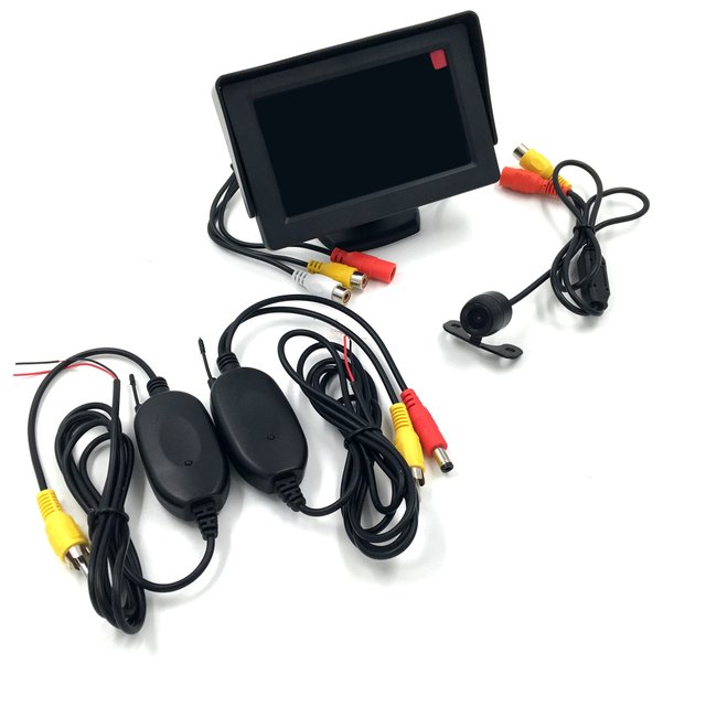 HOT 3 in 1 Wireless Car Parking Assistance 4.3 inch LCD Monitor  + Butterfly Car Rear View Camera + 2.4Ghz Wireless Camera Kit
