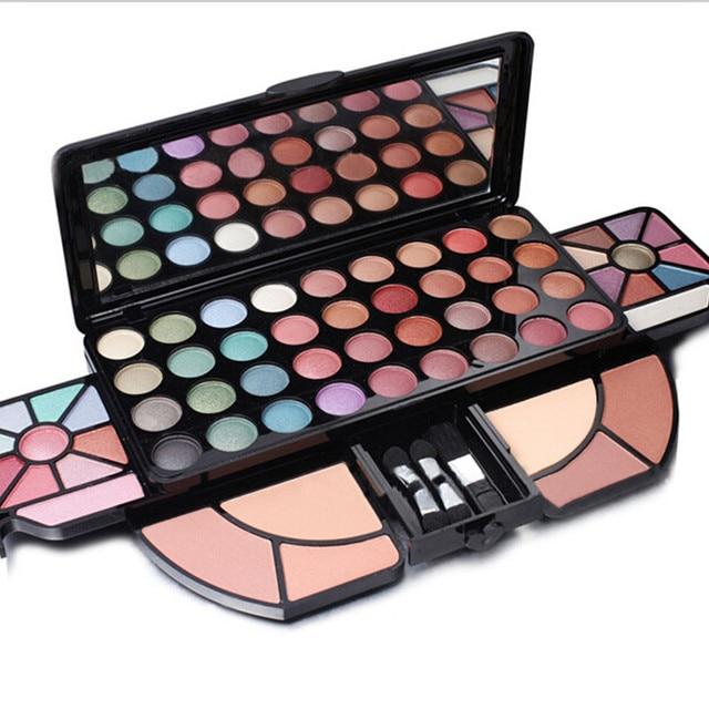 62 Full Color Shimmer Matte Eyeshadow Make Up Palette Professional Eyeshadow Blush Cosmetic Makeup Set Kit With Brush