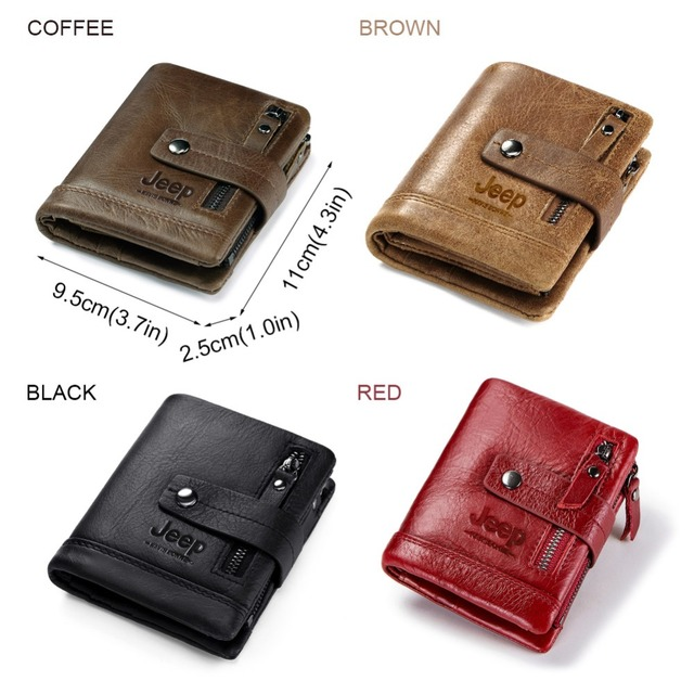 Leather Men Wallet Coin Purse Small with Card Holder