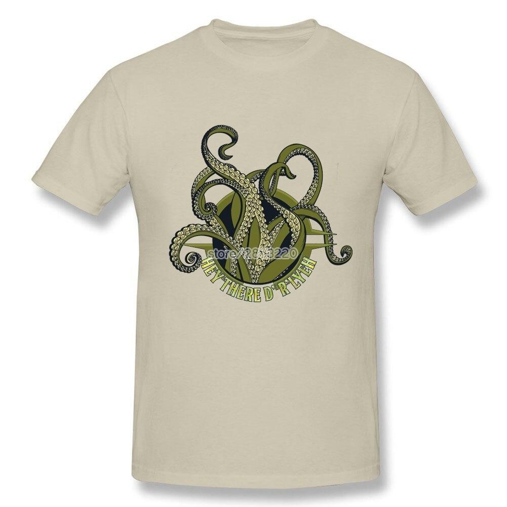 Shirt design octopus - Man S H P Lovecraft Cthulu Xxxl Design Tee Shirts Octopus Logo Short Sleeves T Shirt T
