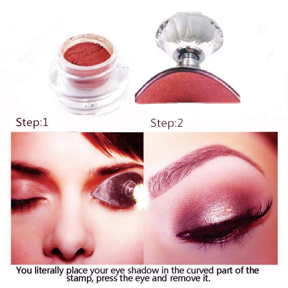 Eye Shadow Magic Eyeshadow Makeup Applicator Silicon Eye Shadow Stamper Exquisite Soft Silicone Pad Portable Durable Makeup Tool Tslm2 High Quality