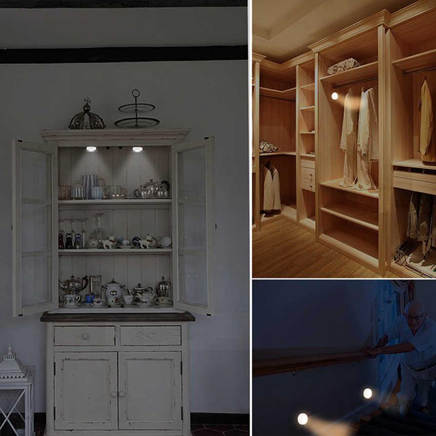 Беспроводной датчик касания с регулируемой яркостью светодиодный под кухонные шкафы свет светодиодный шайба Свет для близкого гардероба Лестницы прихожей ночной Светильник