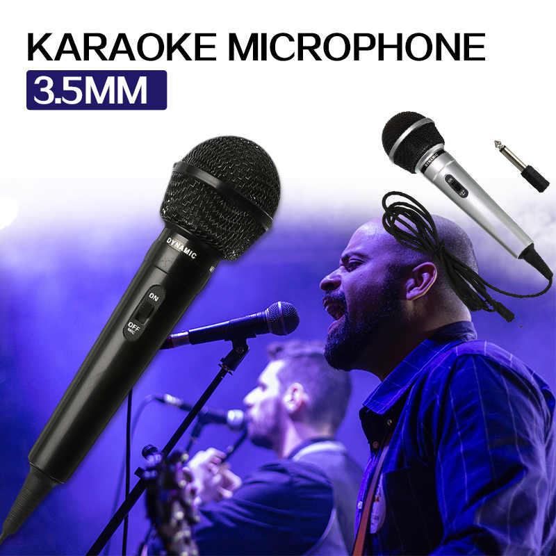 3.5 مللي متر + 6.35 مللي متر المرحلة السلكية ميكروفون كاريوكي يده مكبر الصوت العالمي الأداء العام الارسال تسجيل المحمولة