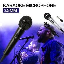 3.5mm + 6.35mm etap przewodowy mikrofon Karaoke ręczny megafon uniwersalny wydajność publicznego nagrywania nadajnika przenośny